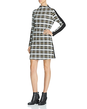 French Connection Plaid-Front Dress