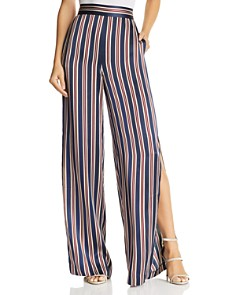 CAMI NYC - Miles Striped Wide-Leg Silk Pants