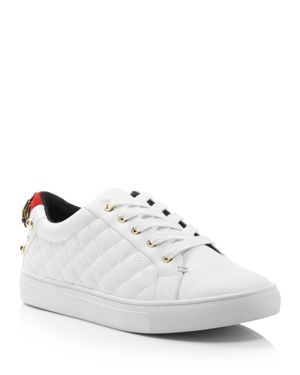Women'S Ludo Leather Lace Up Sneakers in White
