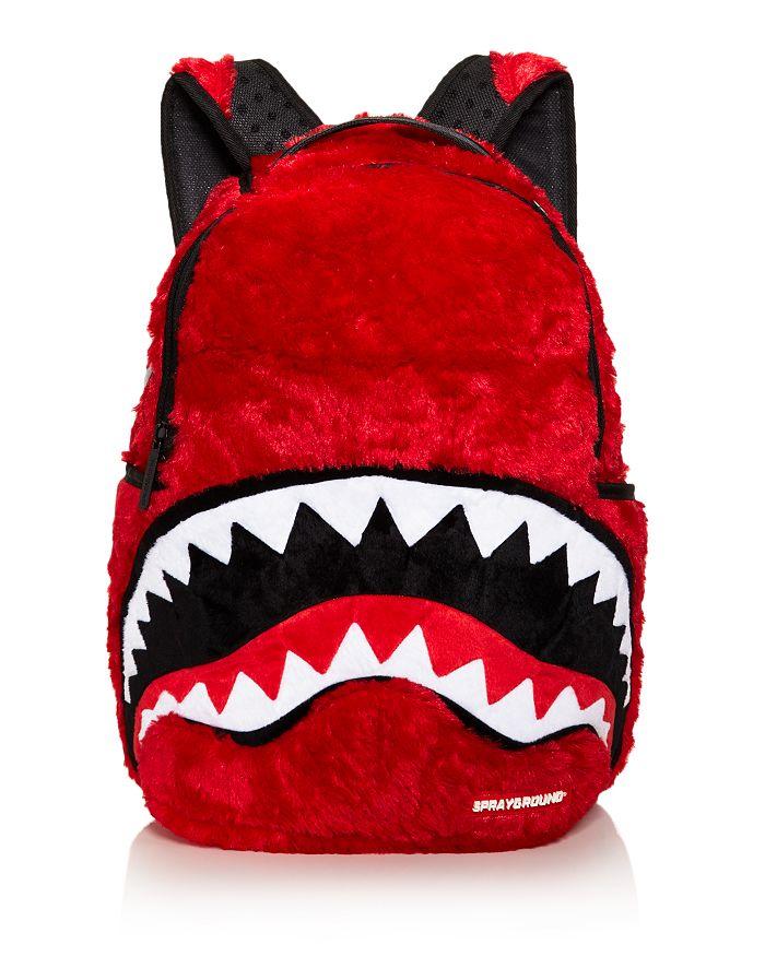 Sprayground - Faux-Fur Monster Shark Backpack