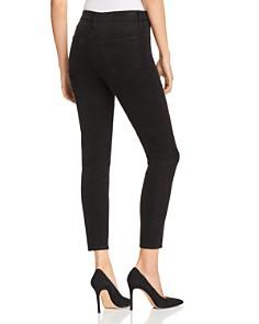 J Brand - Alana Velvet Corduroy High Rise Jeans in Black