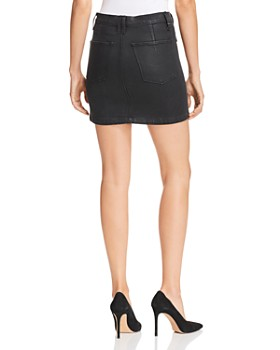 Hudson - High Rise Moto Waxed Denim Skirt