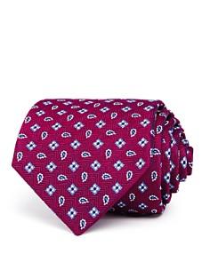 Turnbull & Asser Neat Pine Squares Silk Classic Tie - Bloomingdale's_0