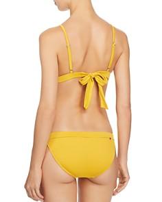 Red Carter - Button-Detail Textured Bikini Bottom