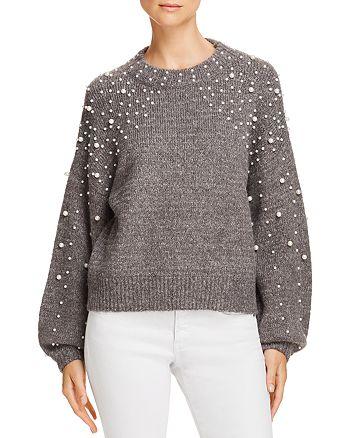 AQUA - Embellished Balloon-Sleeve Sweater - 100% Exclusive
