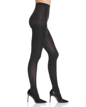 HUE Solid Compression Tights in Black