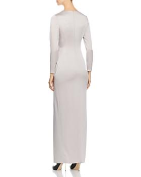 PAULE KA - Twist-Detail Satin Gown