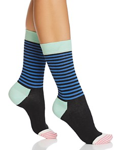 Happy Socks Half Stripe Crew Socks - Bloomingdale's_0