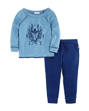 Splendid Boys' Varsity Tee & Waffle-Knit Jogger Pants Set - Baby