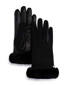 UGG® - Shorty Shearling-Cuff Tech Gloves
