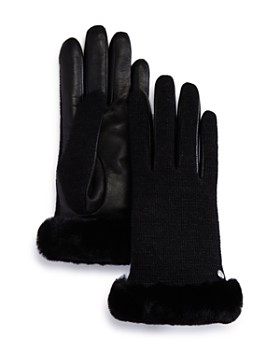 UGG® - Shorty Shearling-Cuff Tech Gloves