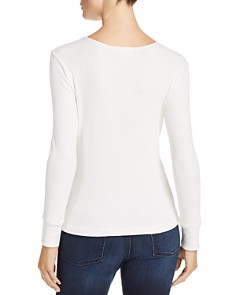 LNA - Kindred Asymmetrical-Strap Slub-Knit Sweater