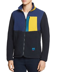 Herschel Supply Co. - Color-Block Mixed-Media Fleece Jacket