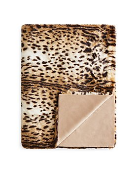 Hudson Park Collection - Animal Faux Fur Throw - 100% Exclusive