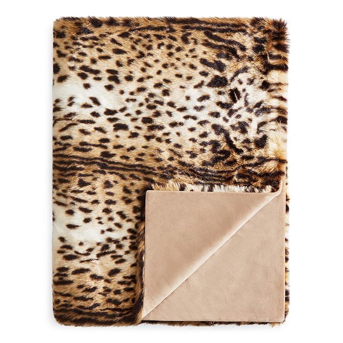 Hudson Park Collection - Faux-Fur Animal Throw - 100% Exclusive