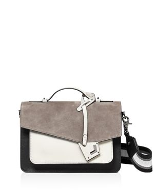 Cobble Hill Calfskin Leather Crossbody Bag - Grey, Gray