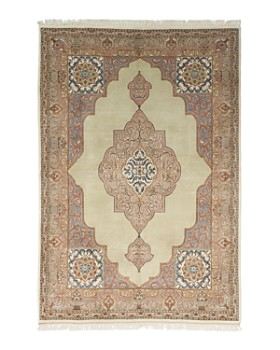 """Solo Rugs - Tabriz Jan Hand-Knotted Area Rug, 6' 2"""" x 9' 1"""""""