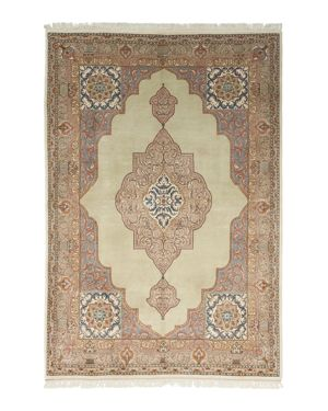Solo Rugs Tabriz Jan Hand-Knotted Area Rug, 6' 2 x 9' 1