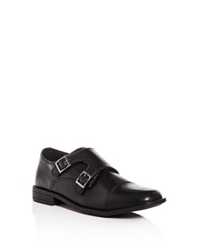 STEVE MADDEN - Boys' Chaaz Leather Double Monk Strap Loafers - Little Kid, Big Kid