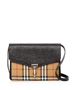 Burberry - Macken Small Vintage Check & Leather Crossbody