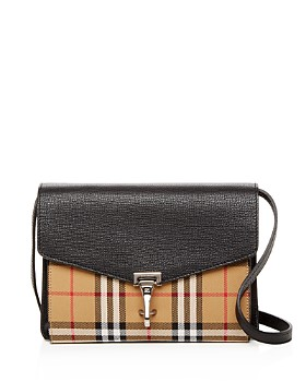 Burberry Macken Small Vintage Check Leather Crossbody