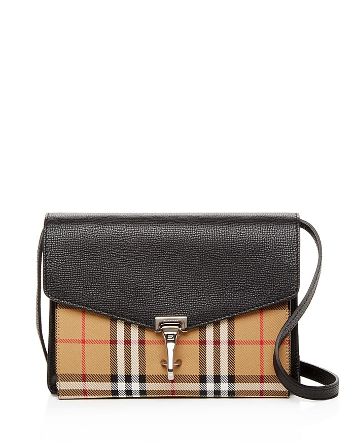 Burberry - Macken Small Vintage Check   Leather Crossbody c3908a3a4