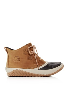 Sorel - Women's Out N About Plus Waterproof Nubuck Leather Booties