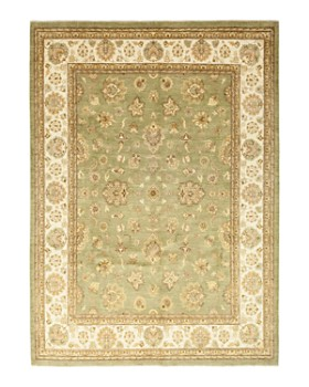 """Solo Rugs - Oushak Shiva Hand-Knotted Area Rug, 9'1"""" x 11'10"""""""