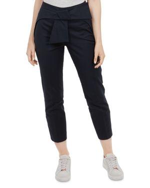Betha Bow Waist Trousers, Navy