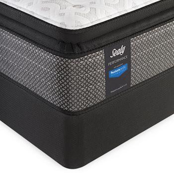 Sealy Posturepedic - Sealy Adams Street Cushion Firm Euro Pillow Top Twin Mattress & Box Spring Set - 100% Exclusive