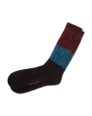 Ted Baker Keens Color-Block Cable Socks