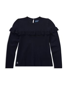 Ralph Lauren - Girls' Ruffled Sweater - Big Kid