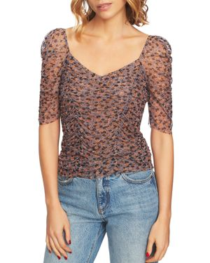 1.state Ditsy Drift Ruched Top