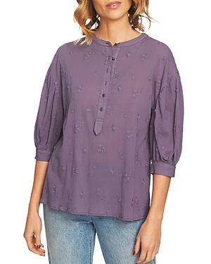 1.state Embroidered Cotton Top
