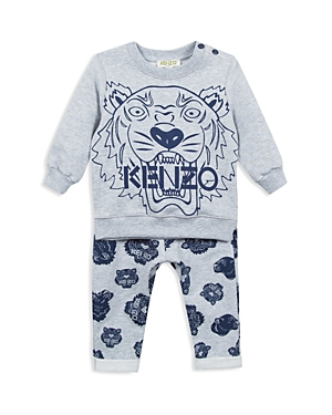 Kenzo Boys TigerPrint Sweatshirt  Sweatpants Set  Baby