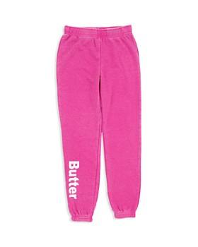 Butter - Girls' Fleece Varsity Sweatpants - Little Kid