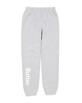 Butter - Girls' Fleece Varsity Sweatpants, Little Kid, Big Kid - 100% Exclusive
