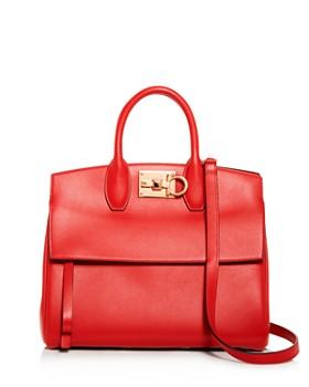 Salvatore Ferragamo - Rhapsody Medium Leather Convertible Shoulder Bag