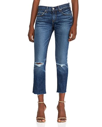 rag & bone - Distressed Ankle Jeans in Dia