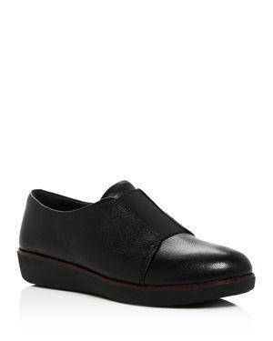 Laceless Derby, Black Leather