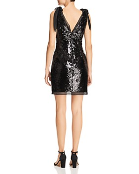 Aidan by Aidan Mattox - Sequined Chiffon-Tie Dress