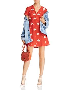 Cotton Candy LA - Floral-Print Notch-Lapel Dress