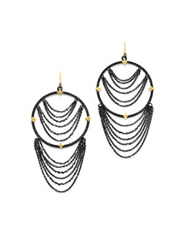 Armenta - 18K Yellow Gold & Blackened Sterling Silver Old World Champagne Diamond Earrings