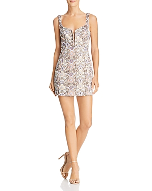For Love & Lemons BROCADE MINI DRESS