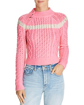 Preen Line - Cropped Cable Sweater