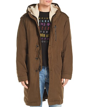 John Varvatos Star USA - Detachable Faux Shearling-Lined Parka