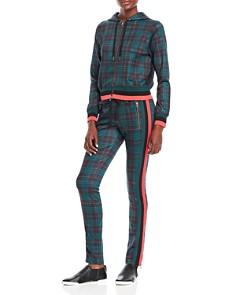 PAM & GELA - Stewart Plaid Cigarette Track Pants