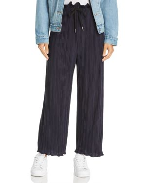 SAGE THE LABEL Sage The Label Ziggy Wide-Leg Pants in Navy