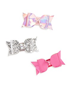 GiGi Girls' Bow Hair Clips with Swarovski Crystals, Set of 3, 100% Exclusive - Ages 3+ - Bloomingdale's_0