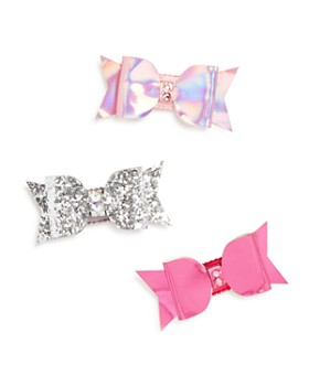 GiGi - GiGi Girls' Bow Hair Clips with Swarovski Crystals, Set of 3, 100% Exclusive - Ages 3+